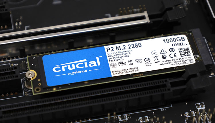 Affordable Crucial NVMe 1TB SSD