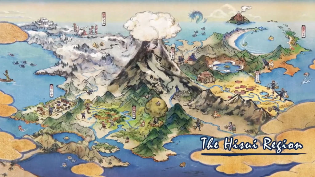 The 5K resolution map of the Hisui region allows us to appreciate these curious details
