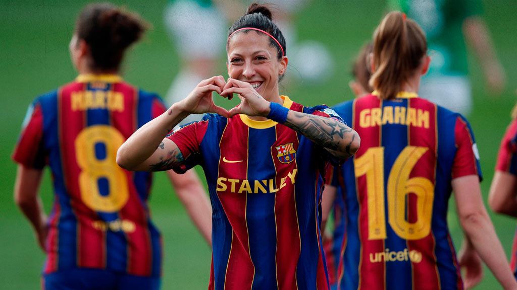 Jennifer Hermoso, star of Barcelona Femenino and one of the best footballers