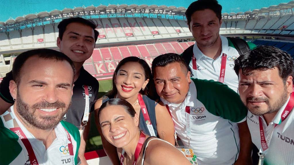 The TUDN team that was part of the coverage at the Tokyo 2020 Olympics